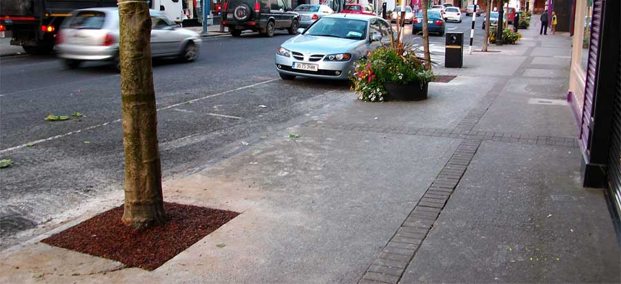landscaped tree rings for Clonmel town council
