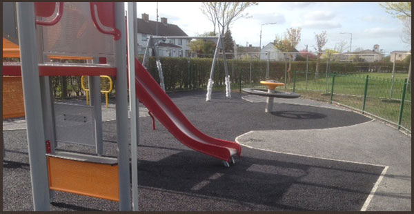 The finished playground at Edenmore