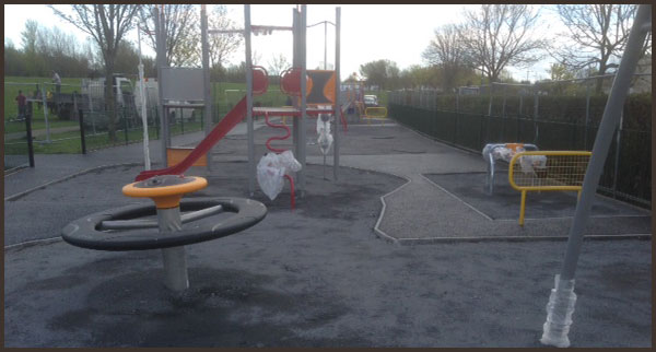Playground surface installation