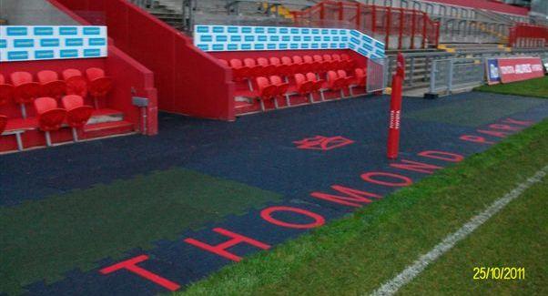 Thomond Park Rubber surfaces