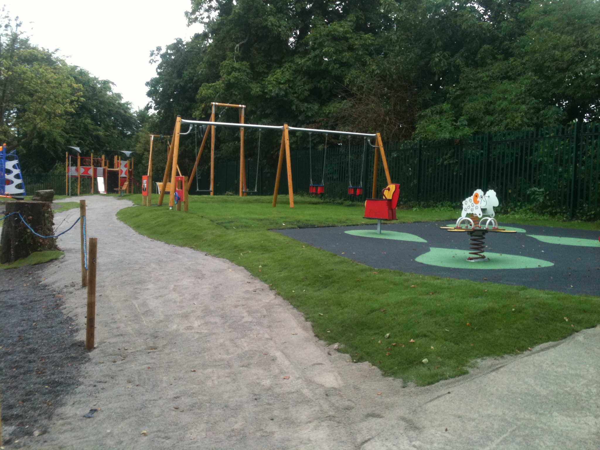 Edenderry Playground swings