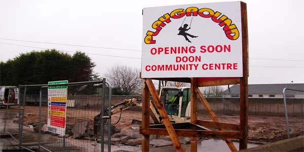 Doon Playground by Browne Brothers ready to begin