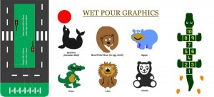 wet pour graphics for playgrouns