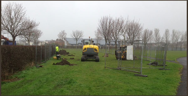 Excavation works at the new Edenmore playground in Dublin
